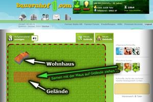 Bauernhof Karte des Browsergames Bauernhof1.com